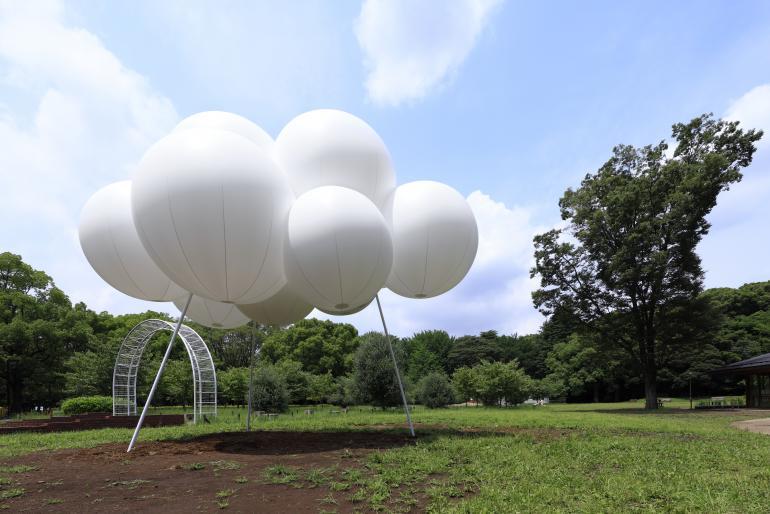 Временный павильон-облако, дизайн Су Фудзимото