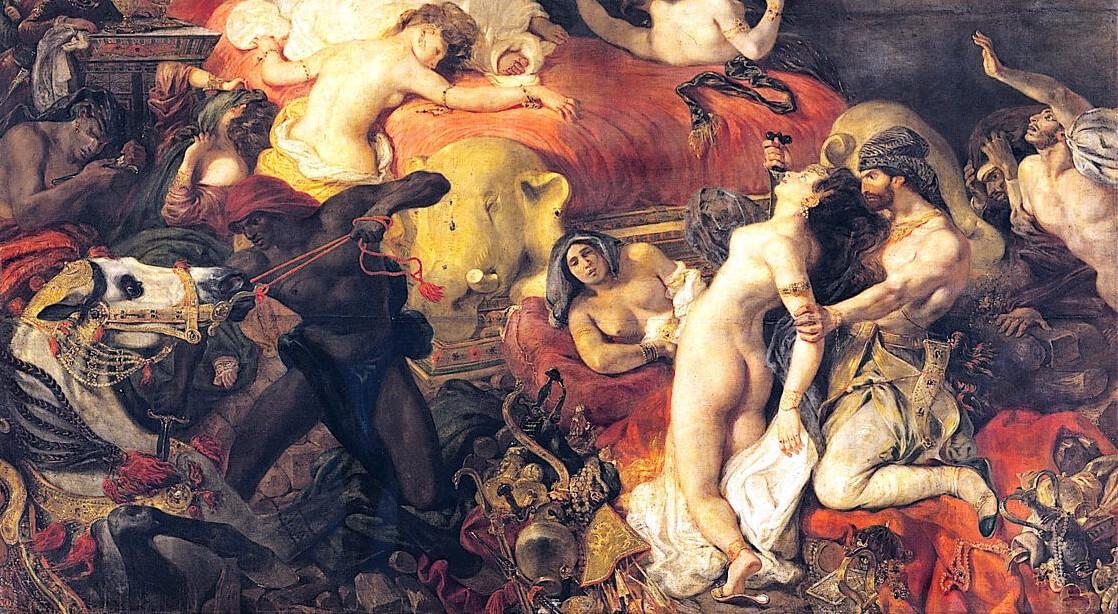 <i>«Смерть Сарданапала», Эжен Делакруа, 1827, Франция.</i>