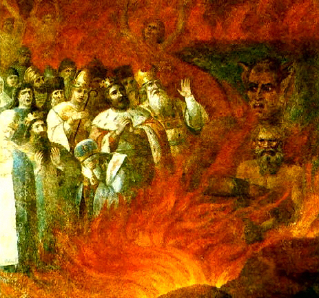 """Противостояние критических верующих и верующих с точки зрения вторых: фреска """"Лев Толстой в аду"""""""