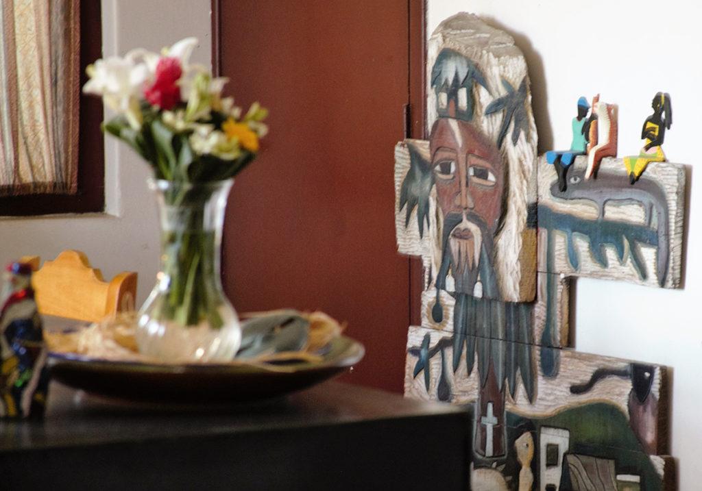 В гостиной Наталии Боливар. Из архива автора
