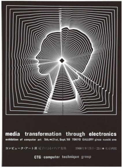 Плакат выставки «Computer Art: MediaMedia Transformation through Electronics». 1968