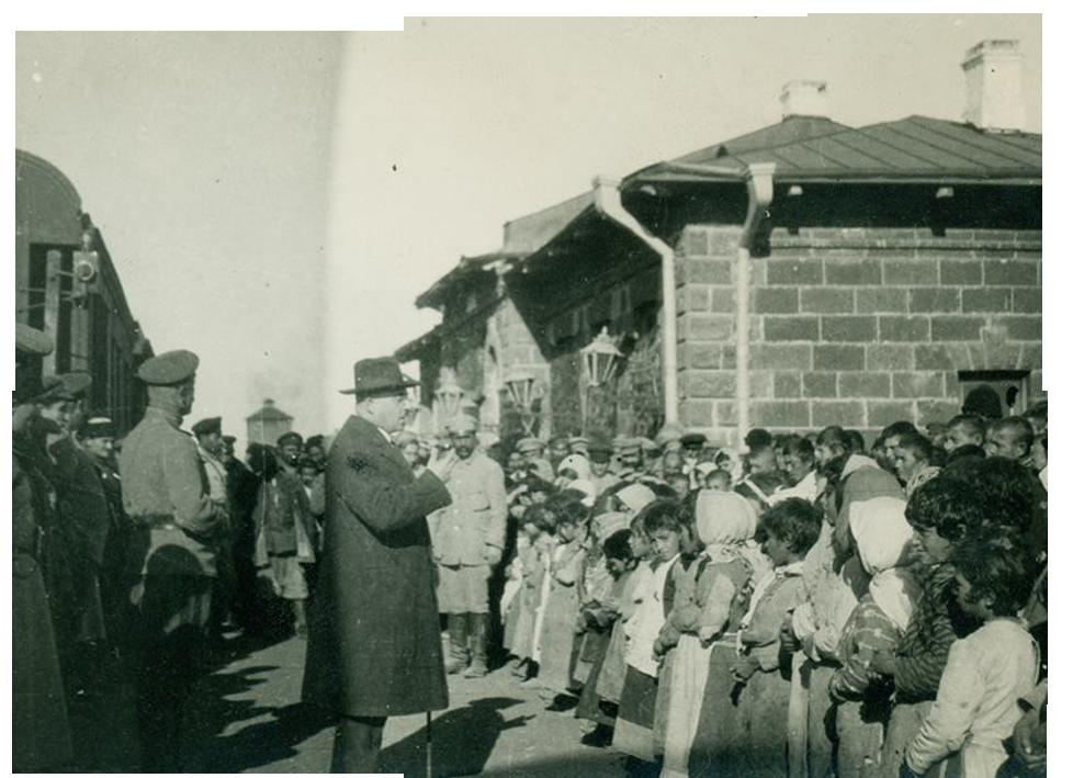 Aleksendr Khatisyan in Mogilev, 1917, Source: mediamax.am