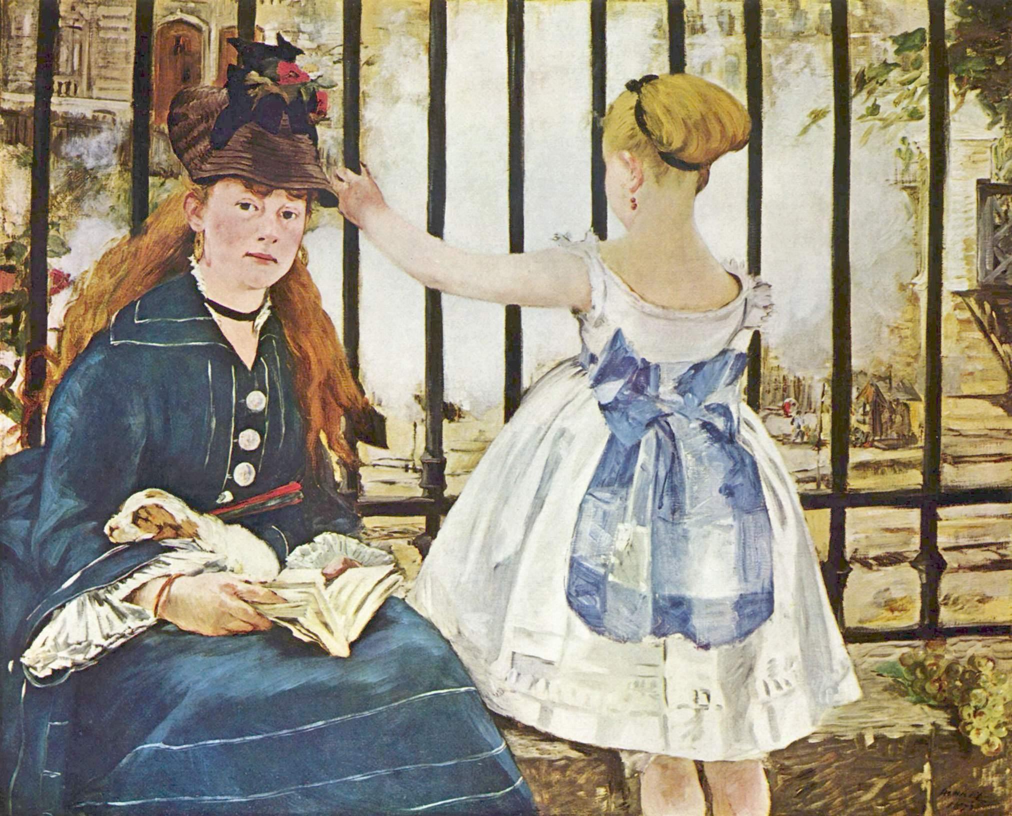 Edouard Manet. Le Chemin de fer, 1872.