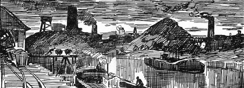 Иллюстрация Г. Филипповского к роману «Жерминаль» Э. Золя
