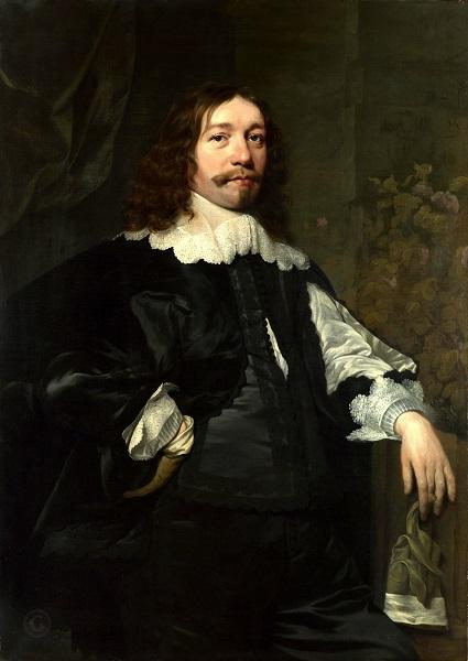 Хельст, Бартоломеус ван дер Портрет мужчины в черном с перчаткой в руке (1641). Национальная галерея, Лондон
