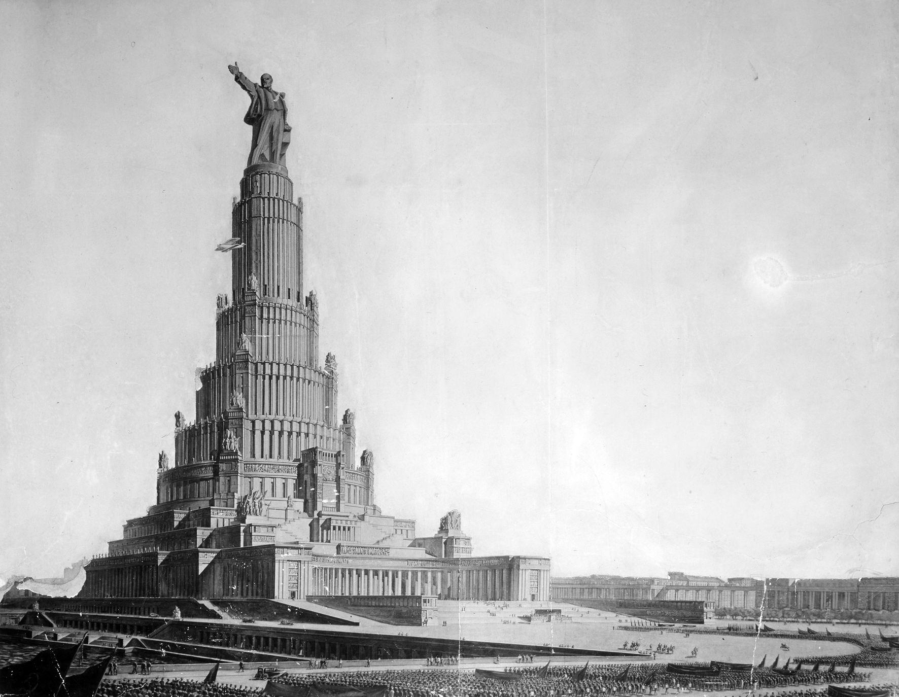 Дворец Советов. Проект Бориса Иофана. 1933