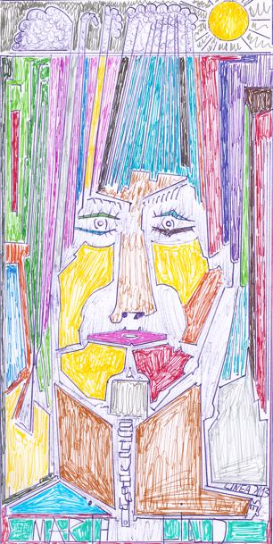 Портрет Марии Линд, художник Бернд Краусс (Bernd Krauss)