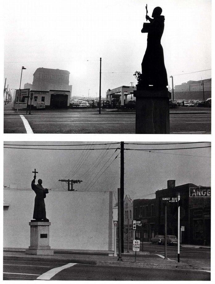 Роберт Франк, St. George, Gas station, and City Hall - Los Angeles, 1955 / Гарри Виногранд, Los Angeles, 1955