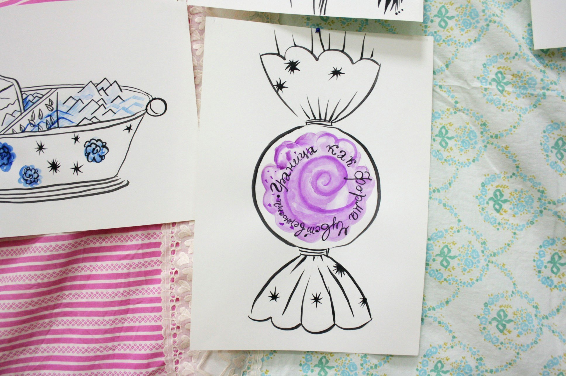 «Добро Пожаловать В Кукольный Дом!», 2019. Проект Сервизного сплетения двух сервизов для мороженого. Ваза-конфета для цве