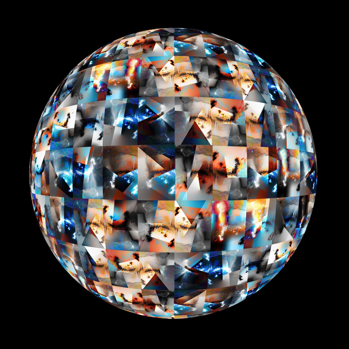 Сфера из картин, вокруг планеты Земля