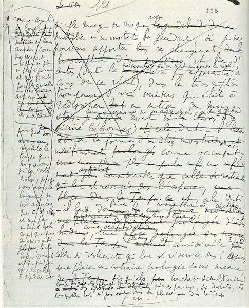 Последняя страница рукописи «В поисках утраченного времени»