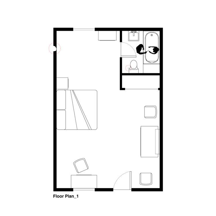 Номер Мэрион. План этажа. Авторы: Mehruss Jon Ahi, Armen Karaoghlanian