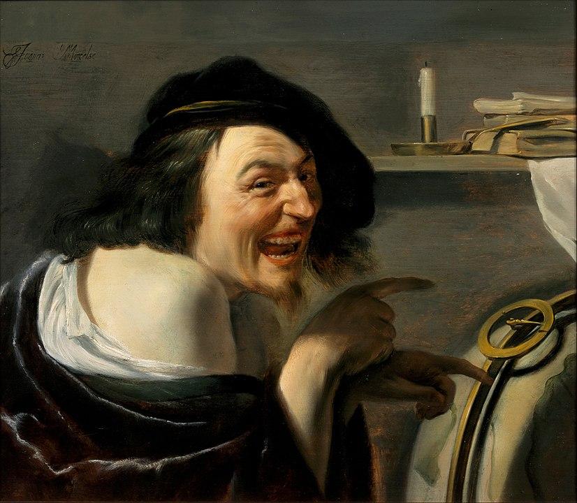 Смеющийся Демокрит кисти голландского художника Иоанна Мореелсе, ок.1630 г.