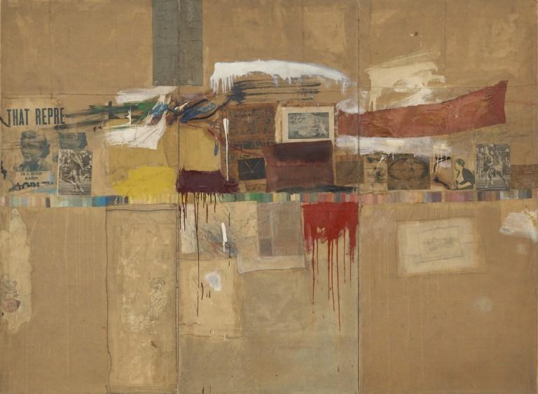 Роберт Раушенберг. Ребус, 1955
