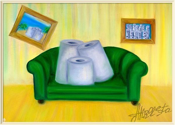<i>Семейный портрет перед телевизором</i>