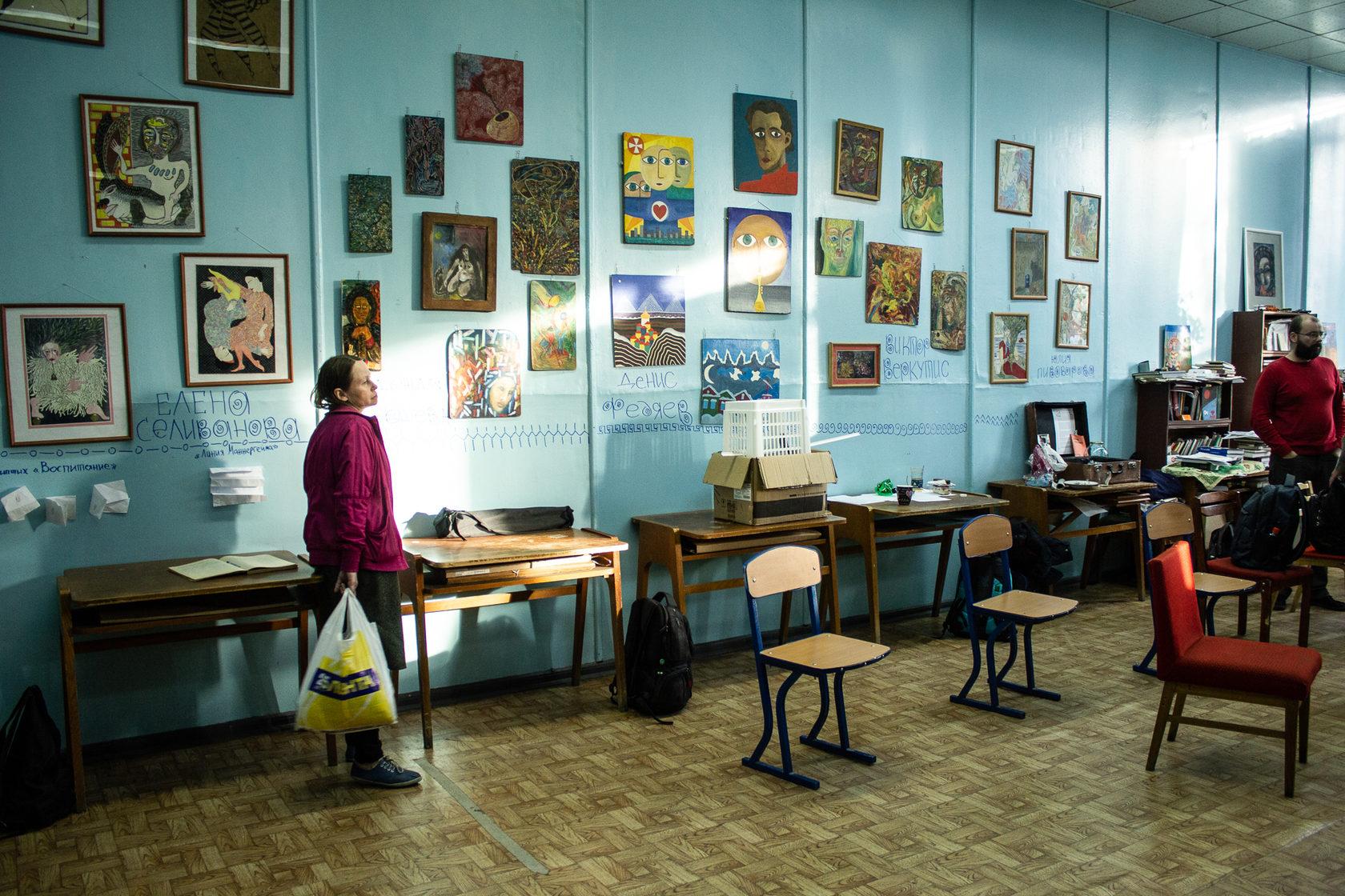 Выставка андеграундных художников круга Олега Волова, «Студия 312», Новосибирск,сентябрь 2019.