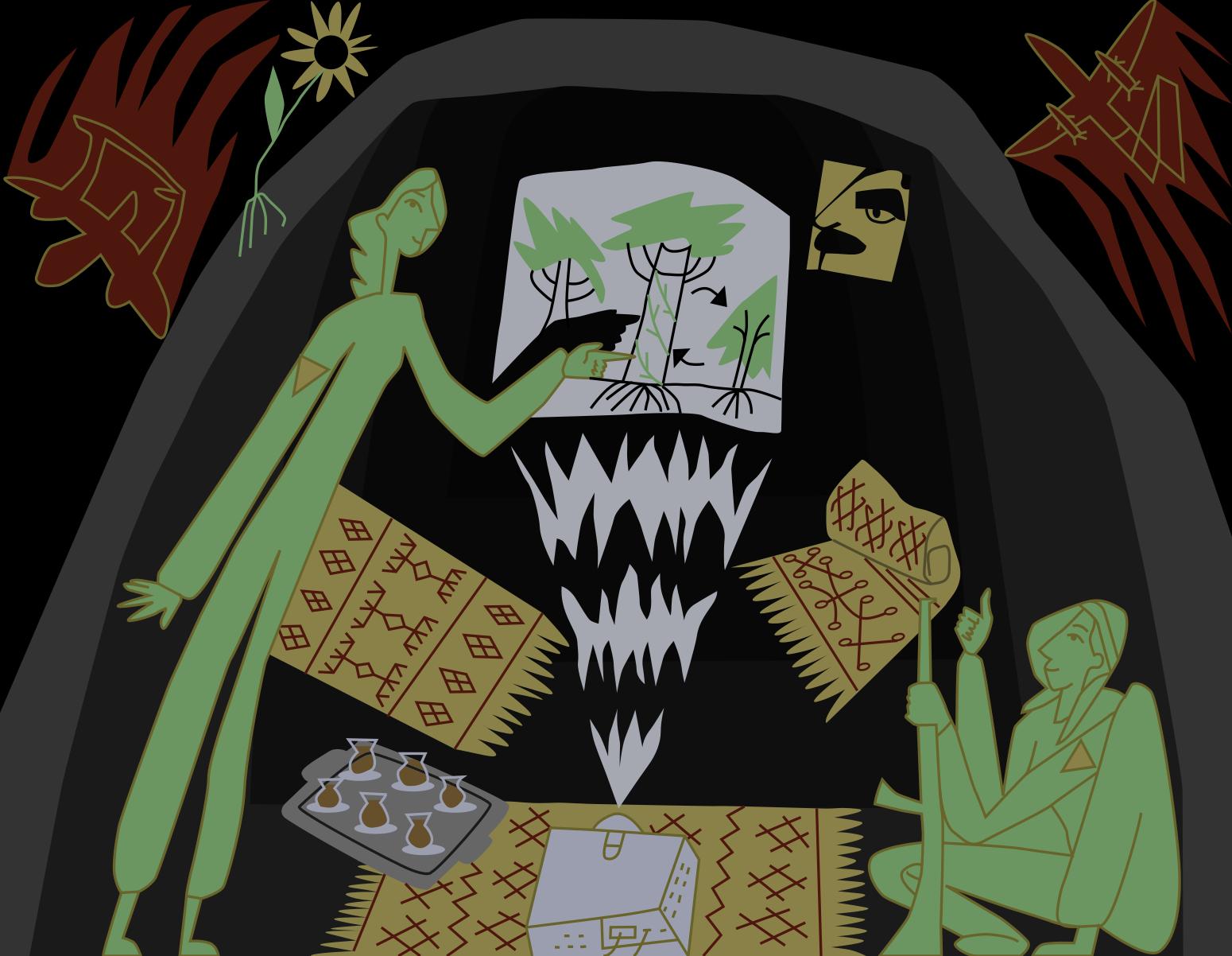 Иллюстрация: ииван кочедыжников для taste the waste