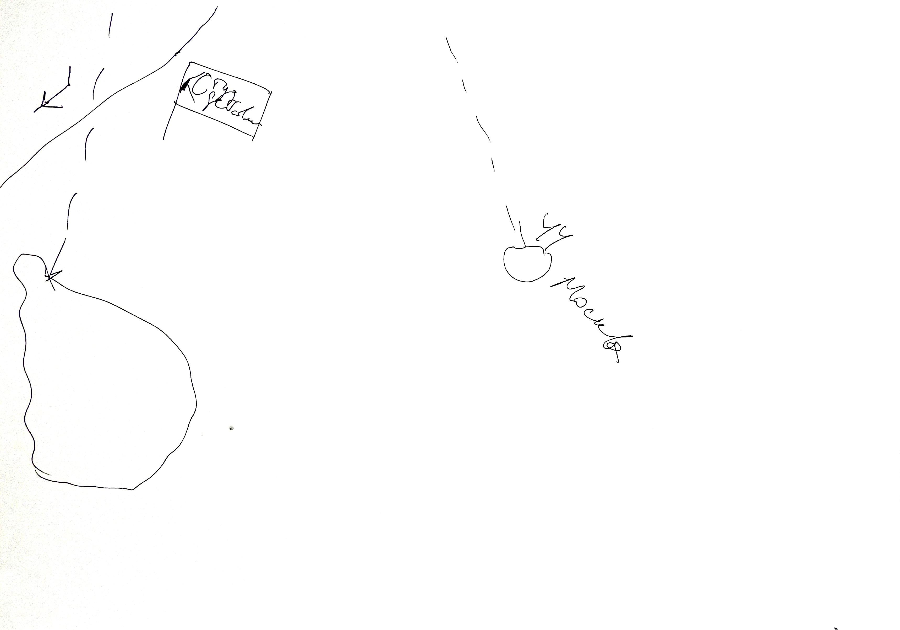 Карта Павла Арсеньева с выставки «Ревизия: места и сообщества». Новая Голландия, 2018 год