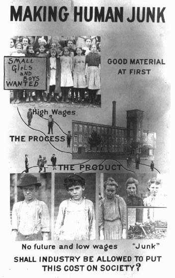 Льюис Хайн, «Создавая человеческий мусор». Один из плакатов, которые Хайн создал во время работы в Национальном комитете