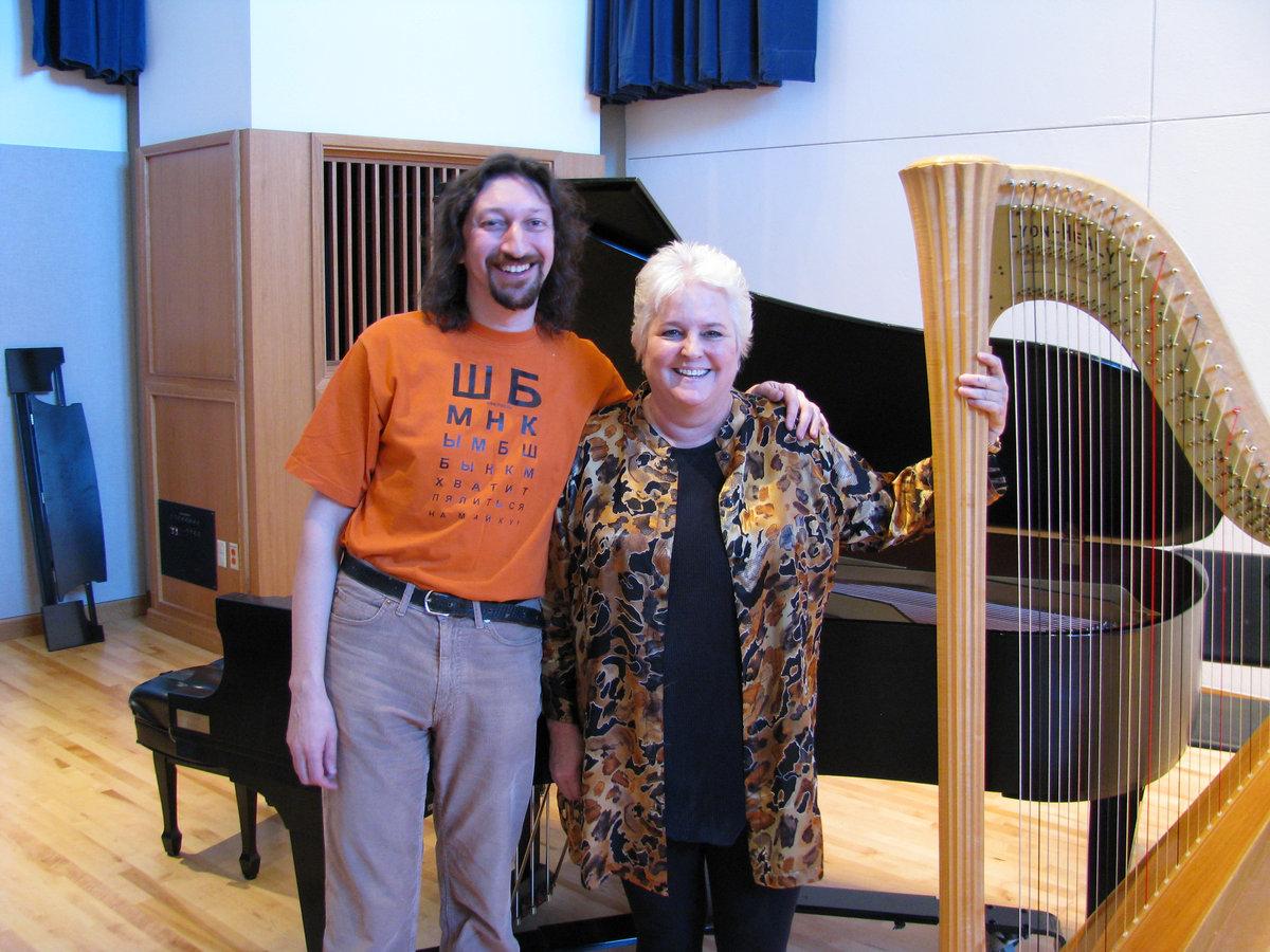Сьюзен Аллен и Роман Столяр на конференции Международного общества импровизационной музыки, декабрь 2008 г.