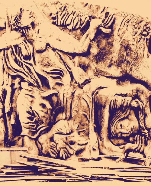 Сохранившееся изображение фрагмента Стены Памяти