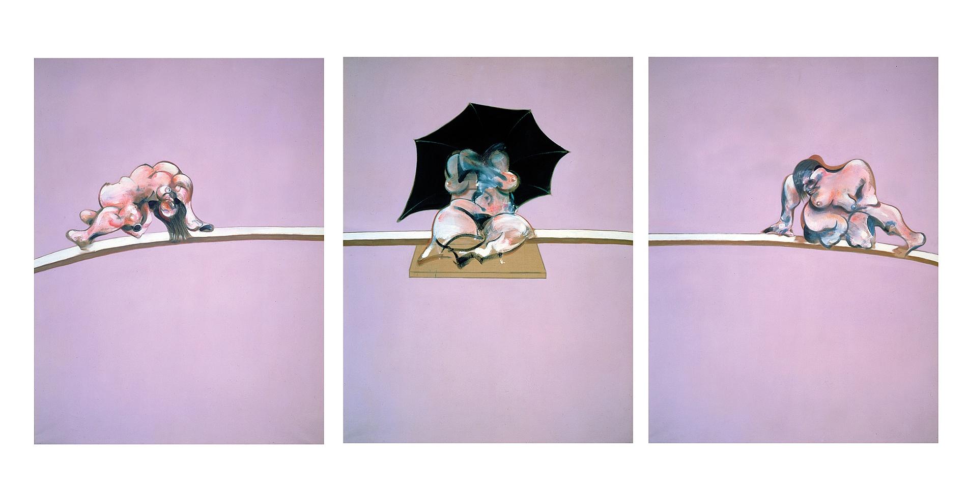 Ф. Бэкон. Триптих – этюды к человеческому телу. 1970. Масло на холсте, каждая панель: 197 x 147.8 см.