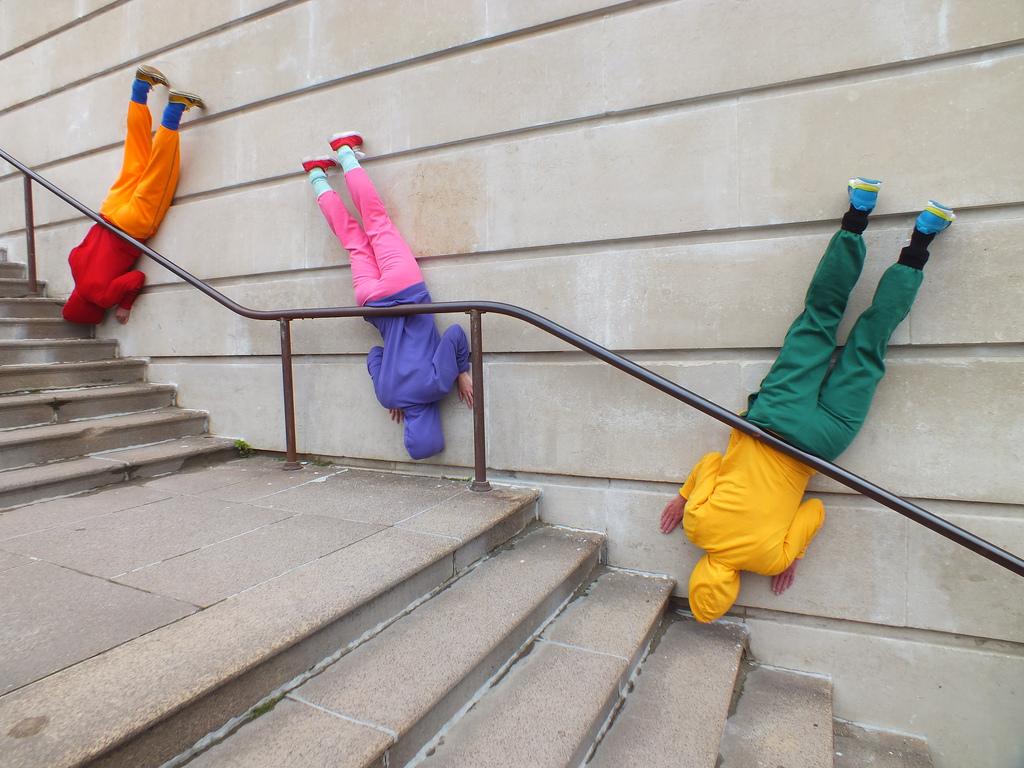 На фото: перформанс художника Уилли Дорнера Bodies in Urban Spaces (2014)
