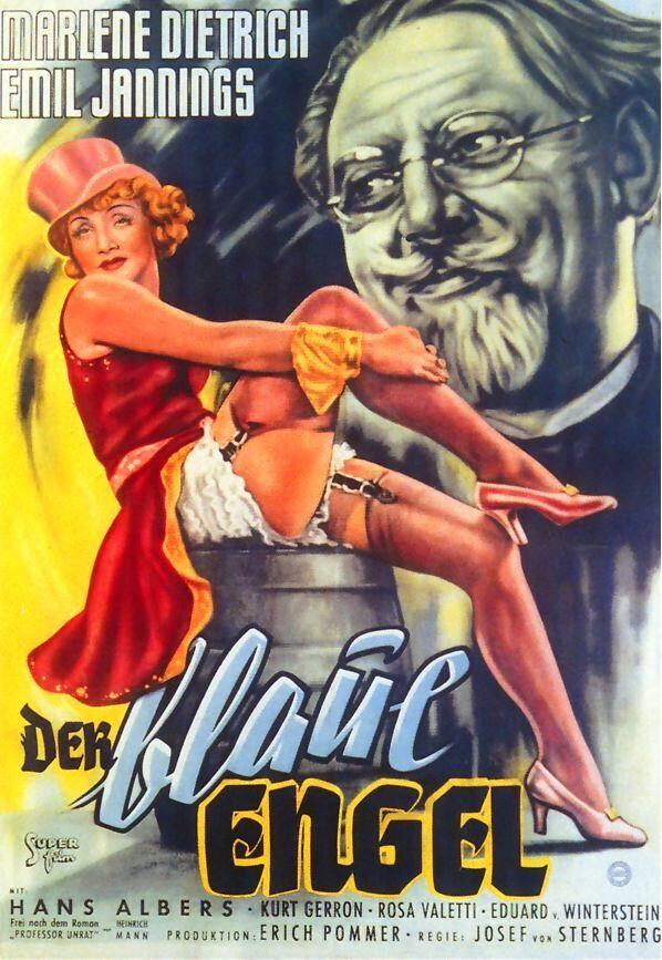 Постер к фильму«Голубой ангел»,Джозеф фон Штернберг, 1930