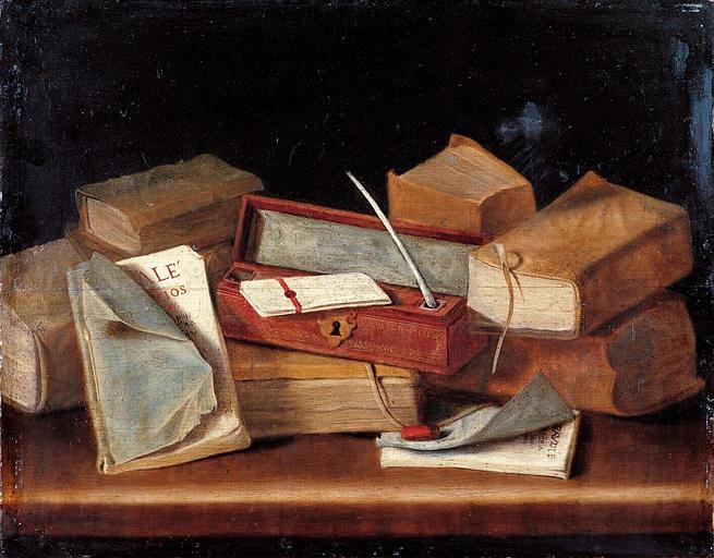 Натюрморт с книгами. Прип. Ж. Бизе, ок. 1650