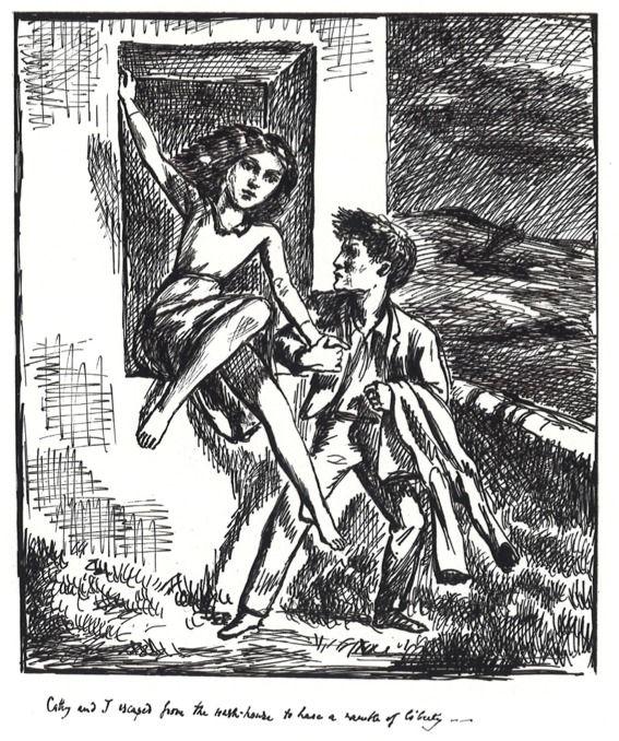 """Одна из иллюстраций Бальтюса к """"Грозовому перевалу"""""""