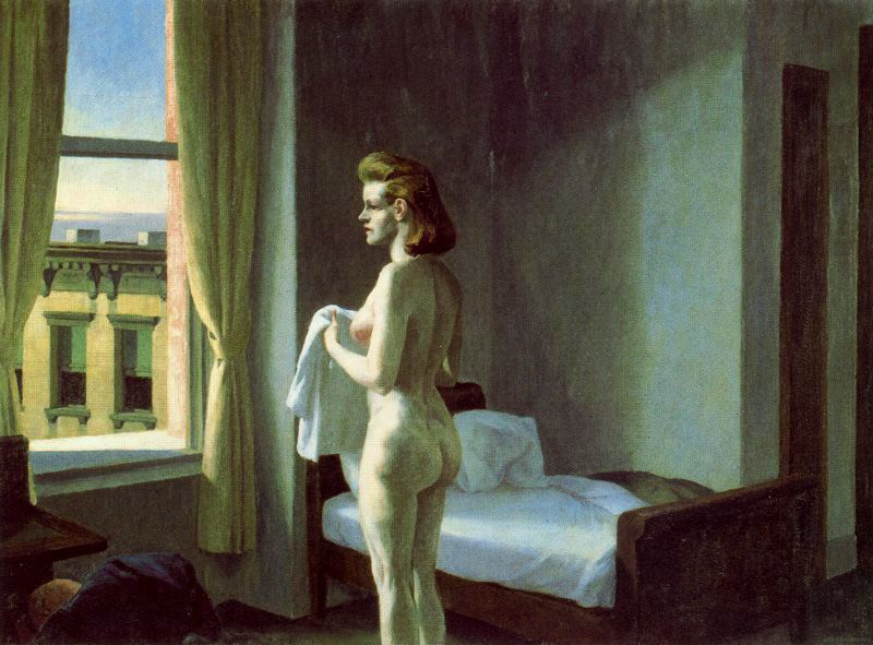 Morning in a City. 1944, ныне в коллекции Музея американского искусства Уитни, Нью-Йорк.