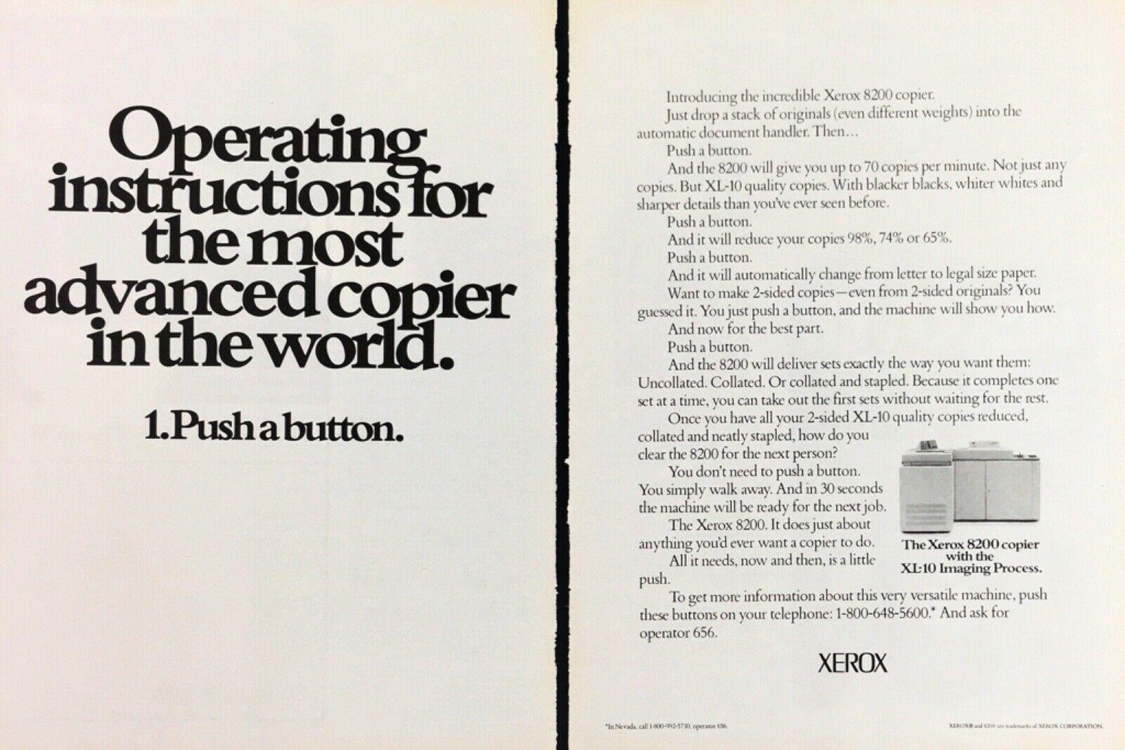 Рекламный буклет Xerox 8200