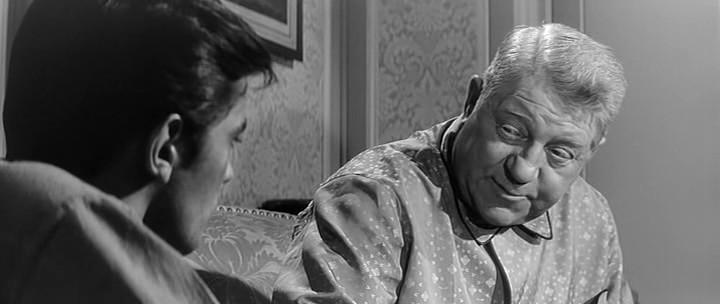 "Ален Делон и Жан Габен. Кадр из к/ф ""Мелодия из подвала"" (1963)."