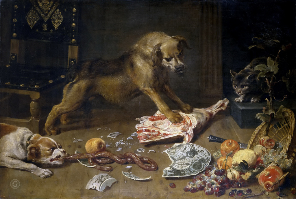 Снейдерс, Франс КладоваяДо 1636 года Холст, масло. 99×145 см Национальный музей Прадо, Мадрид