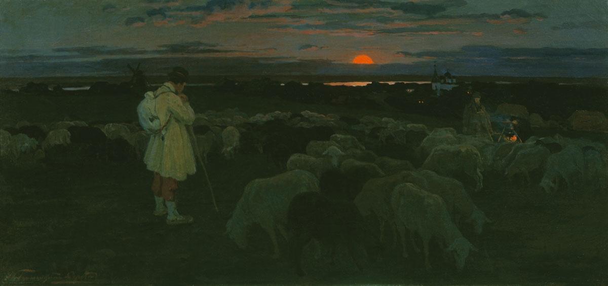 Иллюстрация: картина Горюшкина-Скоропудова «Ночной странник».