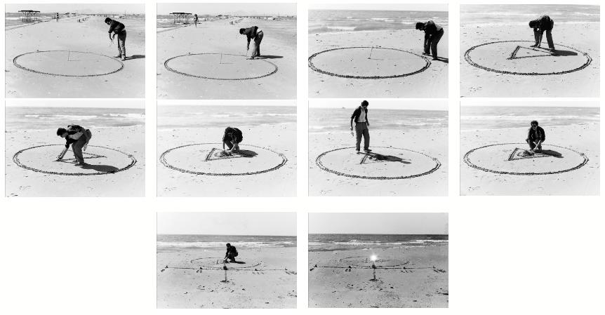 """Теймур Даими. """"Сотворение мира или нахождение Центра"""", перформанс,1989 г., Апшеронский полуостров, Азербайджан"""