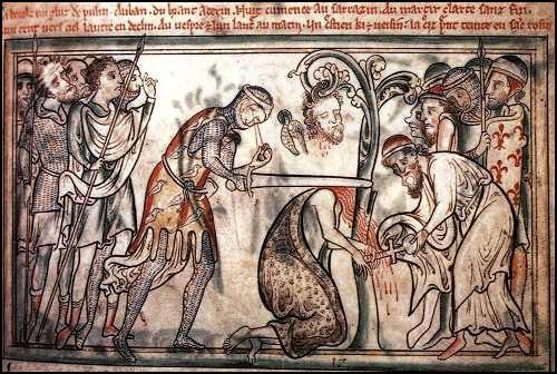 Мэтью Пэрис. Казнь Святого Албана. c.1250.