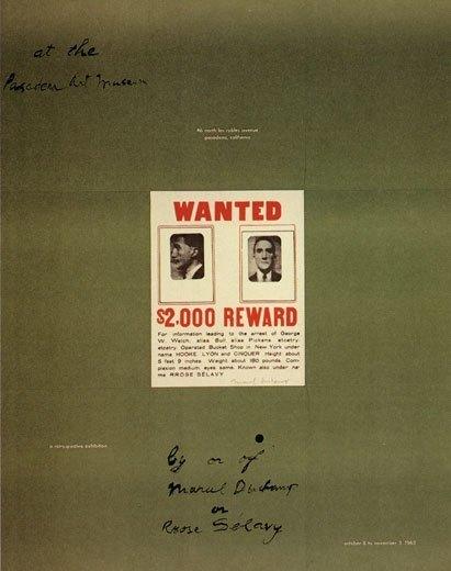 Объявление в объявлении, афиша ретроспективы в Художественном Музее Пасадены, 1963, 87,5 x 69 см, частное собрание