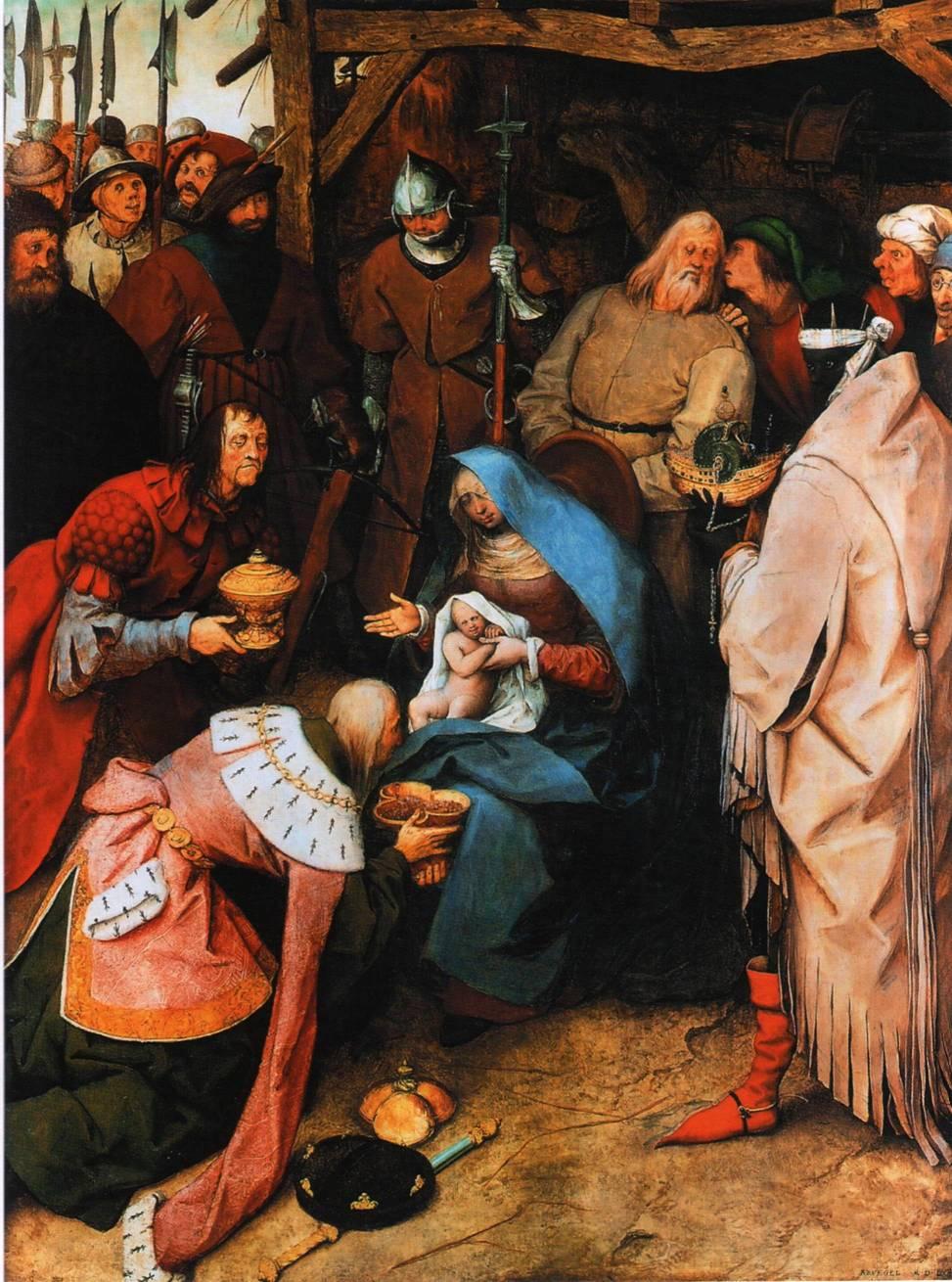 """Питера Брейгель Старший (Мужицкий) """"Поклонение волхвов""""1564 г."""