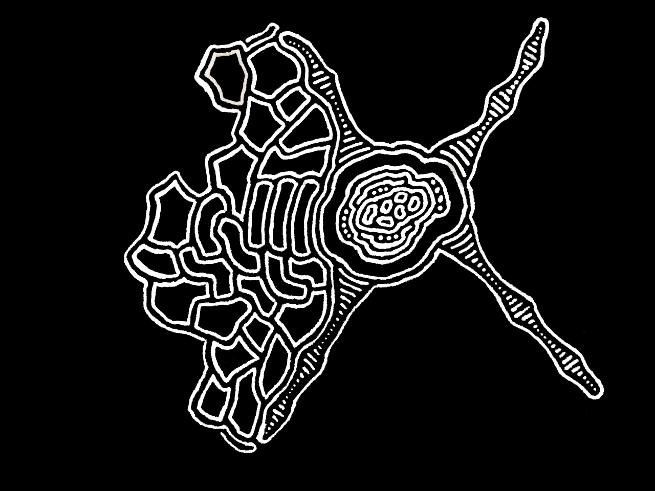 Aleksei Dovhan Artwork 2020-09-06 Rhythm of the heart (size - A4, style - zentangle)