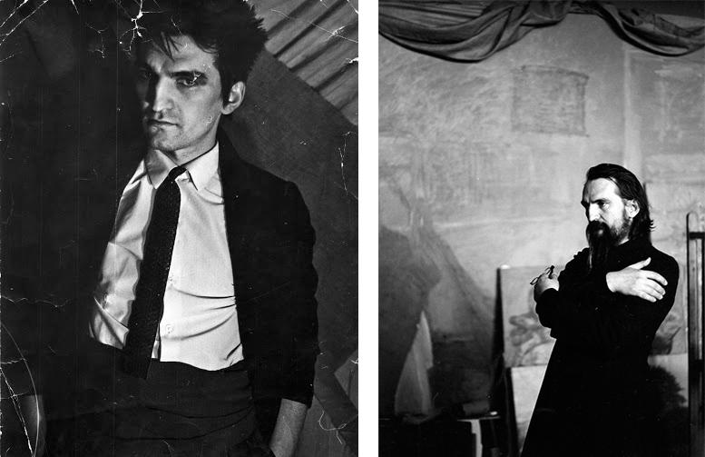 Фотопортрет Тимура Новикова 1980-х и фотография Натальи Жерновской 1998-го. Собрание Музея Новой Академии Изящных Искусст
