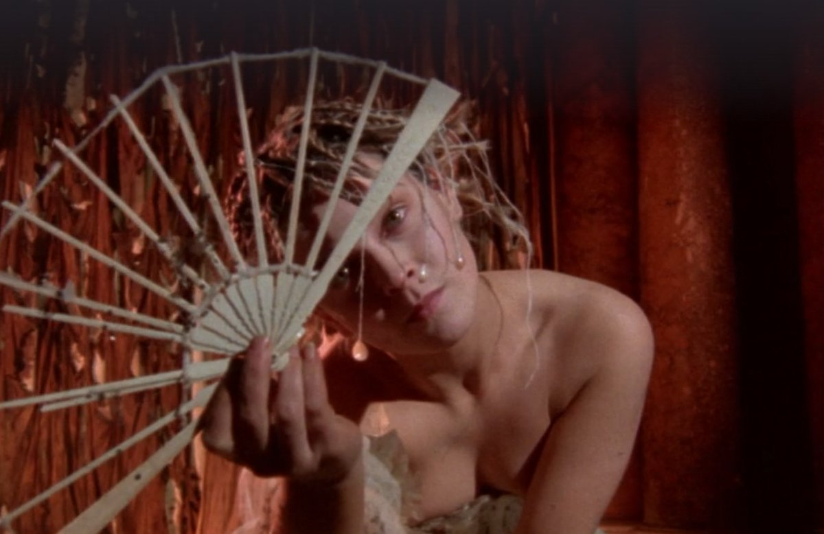 "Кадр из фильма Джармена ""Буря"" (1979 год)."