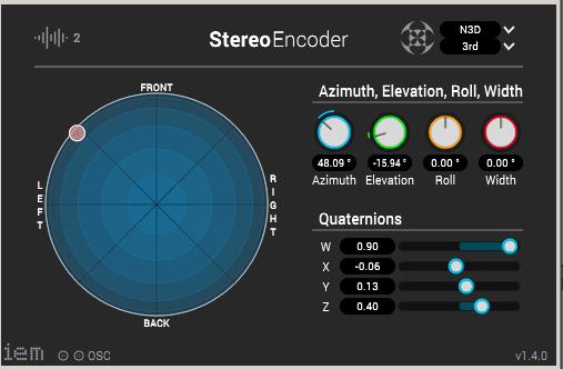 Рисунок 7 – Плагин амбиофонического панорамирования IEM StereoEncoder