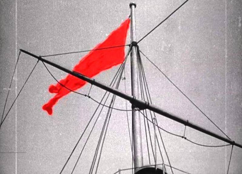 """Красный флаг в фильме """"Броненосец """"Потемкин"""" С. Эйзенштейна, 1925"""