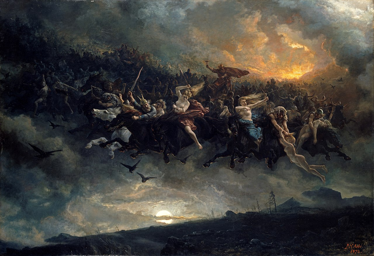 Петер Николай Арбо. Дикая охота Одина. 1872.