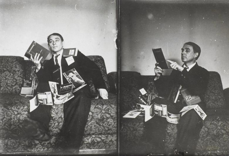 Алексей Крученых. Фото Густава Клуциса, 1930.