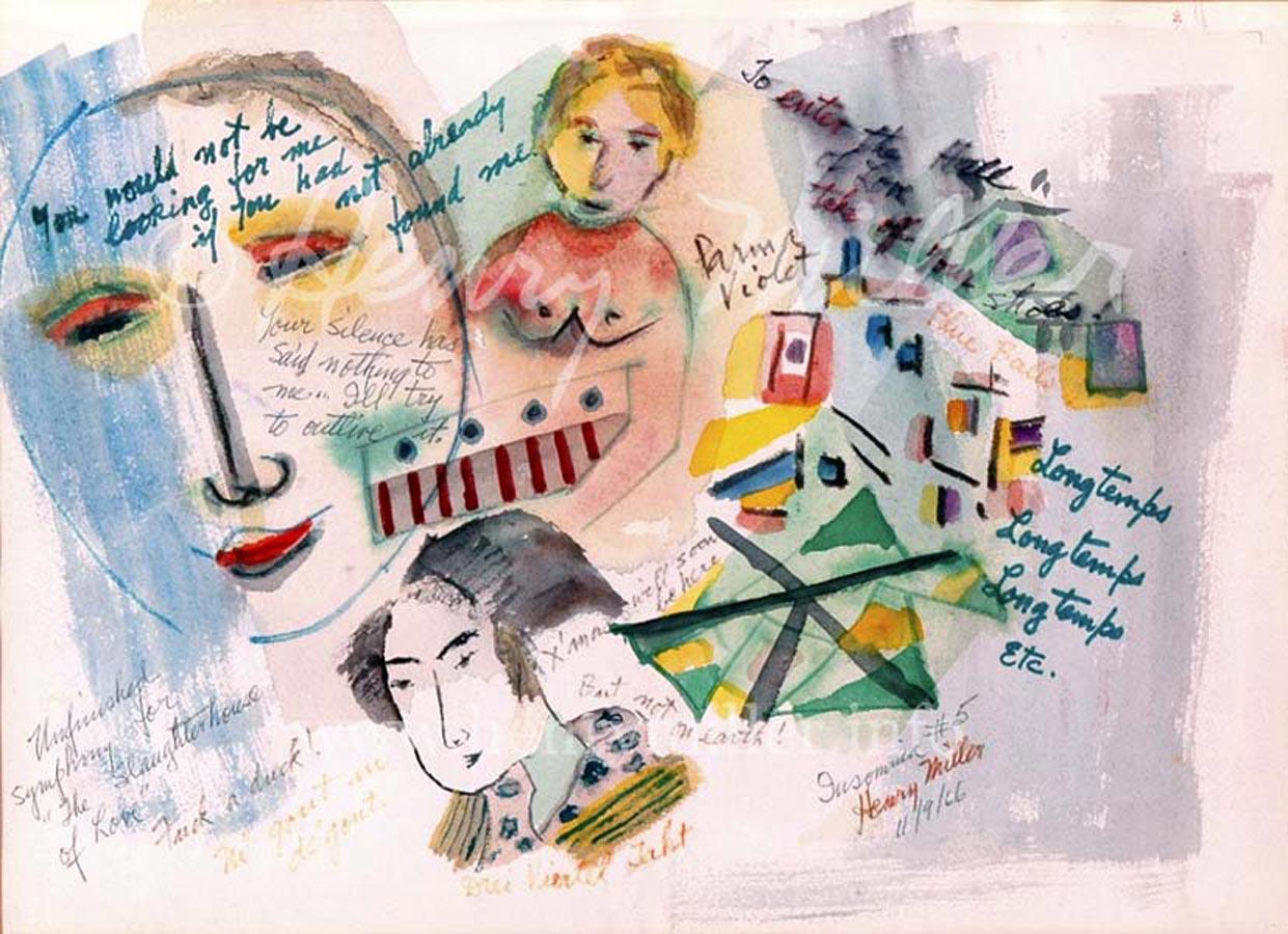 "<i>Картина Генри Миллера из цикла ""Бессонница"".</i>"