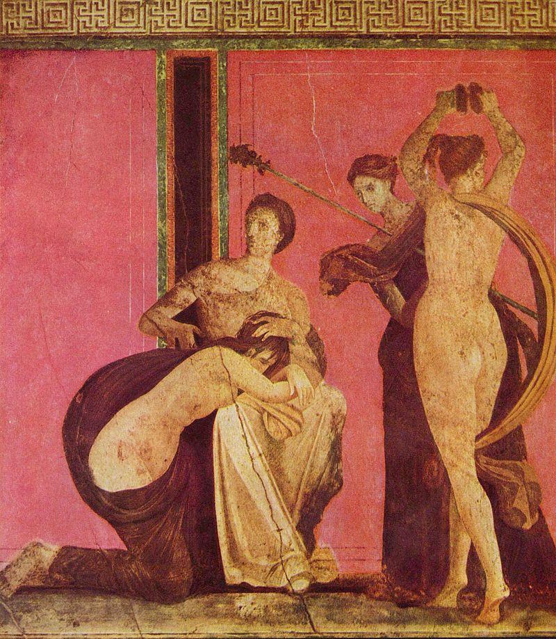 Фреска из Виллы Мистерий, Помпеи. Посвящение в менады