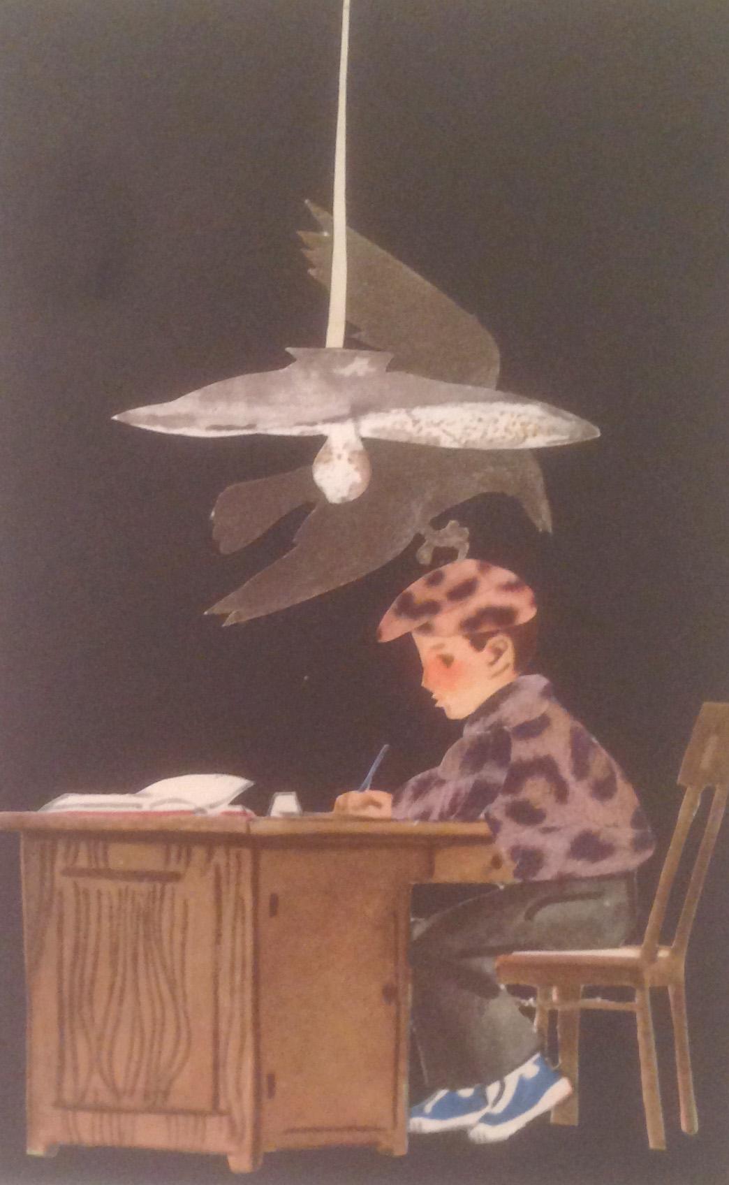 "Марианна Абовян. Из серии ""Код Леопольда"". Коллаж. 9х13, 2016."