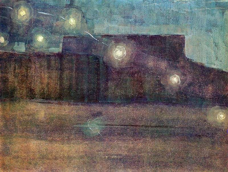 М. Чюрленис, Искры (II), 1906 г. Источник: https://allpainters.ru/chjurljonis-mikalojus/24405-iskry-ii-mikaloyus-chyurlyo